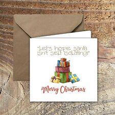 "CHRISTMAS CARDS, LOCKDOWN, QUARANTINE ""Santa self isolating!"" PACK OF 5"