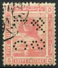 """Egypt 1921-2 SG#90, 5m Pink, """"TC&S"""" Used #D90686"""