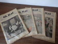52x Journal GIL BLAS ILLUSTRE 1892 COMPLETE Steinlen Maupassant Paul Verlaine