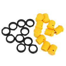 MagiDeal Plastic Push Button Replacement for Arcade Games 10Pcs Yellow