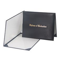 GraduationMall Imprinted Diploma Cover Black 8 1/2