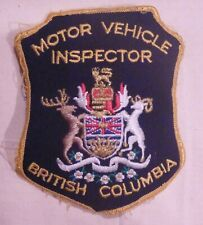 British Columbia Canada Motor Vehicle Inspector Patch - used
