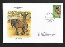 KENYA 1981 FIRST DAY COVER RARE ANIMALS BONGO