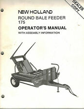 """New Holland 175 Round Bale Feeder Operator'S Manual """"New"""""""