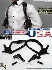MG Toys 1/6 Mens Black Shoulder Holster Set For John wick Hot Toys PHICEN U.S.A.