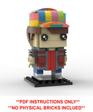 Custom MOC Lego Brickheadz Marty McFly Back to the future  PDF INSTRUCTIONS ONLY
