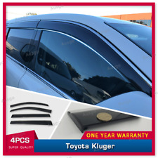 AUS Stainless Steel Weather Shields Weathershields For Toyota Kluger 13-20 #T