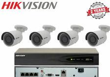 Hikvision 4x Mini Bullet 4MP CCTV Cameras Outdoor & 4CH Network Recorder 1TB Kit