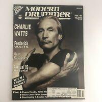 Modern Drummer Magazine February 1990 Charlie Watts, Deen Castronovo & Frederick