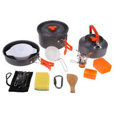 Set Outdoor Cookware Camping Hiking Backpacking Cooking Picnic Bowl Pot Pan