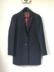 Gorgeous Ladies Jigsaw Navy Blue Blazer Style Wool Blend Coat/Jacket, UK Size 8,