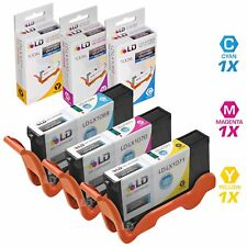 For Lexmark 100XL Set of 3 HY Ink Cartridges:  1 each of Cyan Magenta and Yellow