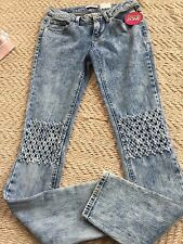 Bongo Juniors Girls SKINNY Jeans Size 11 Light Wash