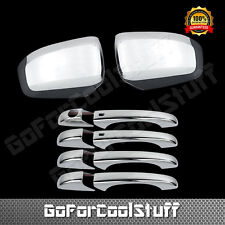 For 11~16 JEEP GRAND CHEROKEE Chrome Mirror 4 Door Handle Cover w/Smart Hole