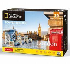 LONDON TOWER BRIDGE National Geographic 3D Jigsaw PUZZLE 120 Pieces