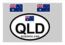QUEENSLAND AUSTRALIA FLAG WINDOW / BUMPER STICKER FOR CAR BIKE CARAVAN TRAILER