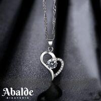 Collar Colgante Joya Mujer Diseño Corazón Brillante Amor Regalo ideal Novia