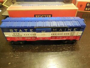 Lionel No.6464-275 State of Maine Products Box Car with Original Box