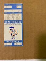 1976 (8/13) New York Mets vs Cincinnati Reds Baseball Ticket Stub VERY GOOD
