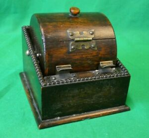 Vintage 1930s Wooden Barreled Cigarette Dispenser - Very rare!