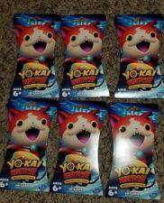 Yokai Watch Trading Card Game SET OF 6!!!  Yokai 10-Card Booster Packs YO-KAI