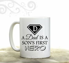 Dad Son's First Hero Coffee Mug - Fathers Day Coffee Cup Gift 15 ounce