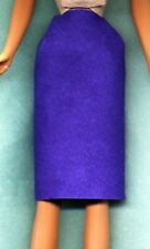 Barbie Doll Clothes - Purple Knee Length Skirt - Genuine Suede Leather