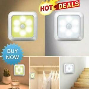 6LED Motion Sensor Night Lights PIR Wireless Wall Closet Stair Wireless Lamp UK