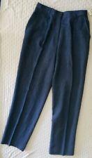 New $89 ORVIS Blue indigo LINEN simgle pleat PANTS SLACKS Trouser Regular size 8