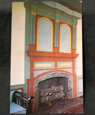 Postcard GA Chief Vann House Cherokee Nation Indian Fireplace Mantel Vintage