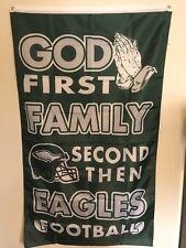 Philadelphia Eagles God First Christian Flag