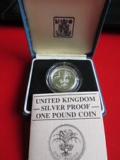 1985 Emblem Of Wales Silver Proof £1 Coin
