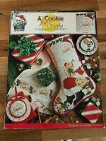 CHRISTMAS Stocking Ornament Cross Stitch Pattern  A COOKIE FOR SANTA True Colors