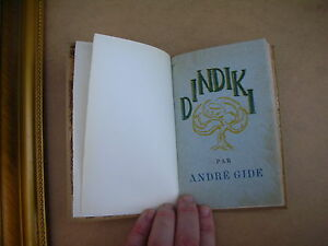 ANDRE GIDE DINDIKI RARE 1927 RELIE N°147/560