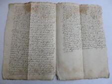 RARO MANUSCRITO 1640 LATIN OCCITANO o ANTIGUO FRANCÉS