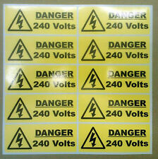 40 X Danger 240 volt stickers 50mm X 20mm Warning & Safety Signs