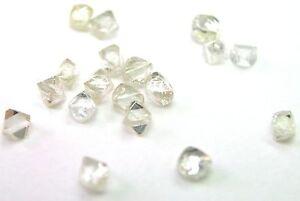 1.74 Karat Weiß / Braune Natürlich Uncut Grobem Diamanten