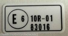 "HONDA VF500F ""E6"" FRAME HEADSTOCK CAUTION WARNING LABEL DECAL"