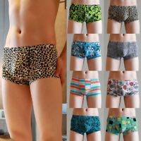 Mens Boxer Shorts Sexy Ice Silk Underwear Briefs Trunks Breathable Underpants