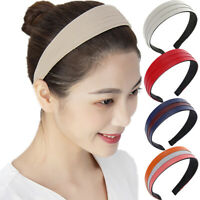 Women's Pleated Headband PU Leather Hairband Wide Hair Band Hoop Accessories
