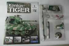 Panzer RC Modell Königs-Tiger mit Fernsteuerung Modellbausammlung Ausgabe 1