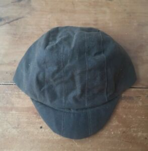 Unique Handmade Waxed Cotton Cycling Cap, Olive Green.