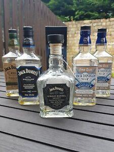 Empty Jack Daniels Bottles 70cl x5, legacy, master distiller, rye, single barrel