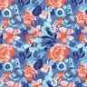 Moda Fabric Voyage Kew Baltic Blue - Per 1/4 Metre