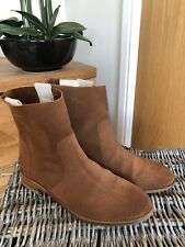 Boden Ankle Boots UK6 EU39 brown tan suede pull on boots