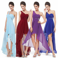 Ever-Pretty Bridesmaid Dress Long Chiffon Asymmetric Summer Cocktail Dress 08100