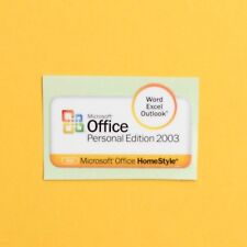 Genuine NOS Microsoft Office Personal Edition 2003 Case Badge Sticker *NEW*