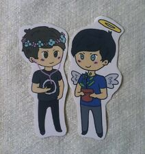 Dan and Phil Sticker Set Daniel Howell (danisnotonfire) and AmazingPhil YouTube