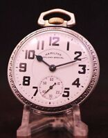 1948 Hamilton Vintage Railway Special 16s Pocket Watch Cal. 992B Serviced Clean