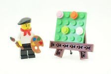 LEGO MASCHIO Boy French artista pittore minfigure con spazzola paletta e CAVALLETTO NUOVO